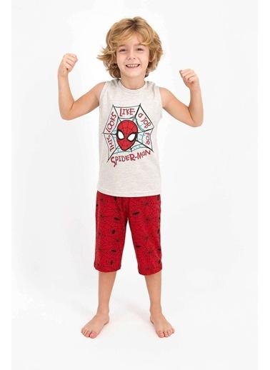 Spider-Man Spider Man Lisanslı Bejmelanj Erkek Çocuk Kapri Takım Bej